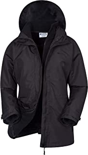 Mountain Warehouse Fell Womens 3 in 1 Jacket -Water Resistant Rain Jacket, Adjustable Hood Ladies Winter Triclimate Jacke...