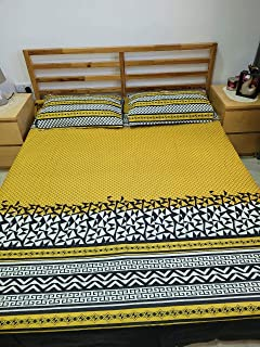 Bedsheet for Double bed 100% cotton export quality with 2 pillows