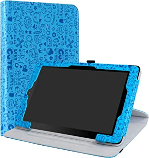RCA 10 Viking/II Pro/Cambio W101 V2 Case,LiuShan 360 Degree Rotation Stand PU Leather with Cute Pattern Cover for 10.1