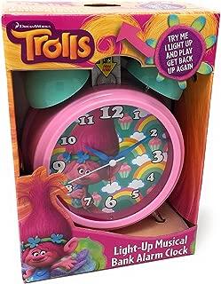 DreamWorks Trolls Poppy Light-up Musical Bank Alarm Clock