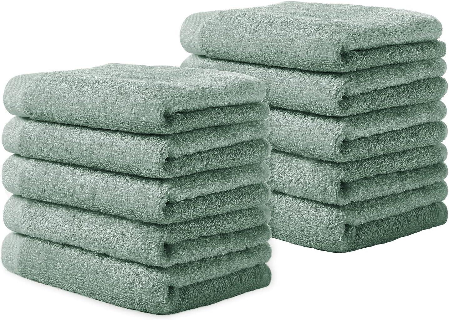 Yoofoss Luxury safety Bamboo Washcloths Towel Set Rare 10 Clo Pack Baby Wash