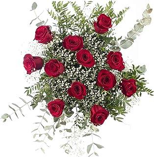 Ramo 12 Rosas Rojas | ENTREGA GRATIS 24 HORAS | Flores Naturales a Domicilio Blossom® | Ramo de Rosas Naturales a Domicili...