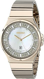 Women's SXDG14 Matrix Analog Display Japanese Quartz Gold Watch