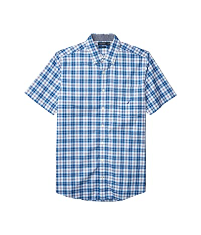 Nautica Big & Tall Big Tall Classic Fit Plaid Shirt (Blue) Men