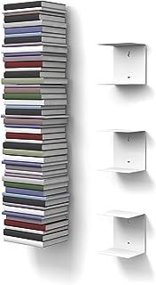 Home3000 - Estantería invisible para libros (3 unidades con 6 repisas cada una, hasta 150 cm de altura y 22 cm de profundidad)