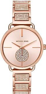 Women's Portia Three-Hand Rose Gold-Tone Stainless Steel Watch MK3853
