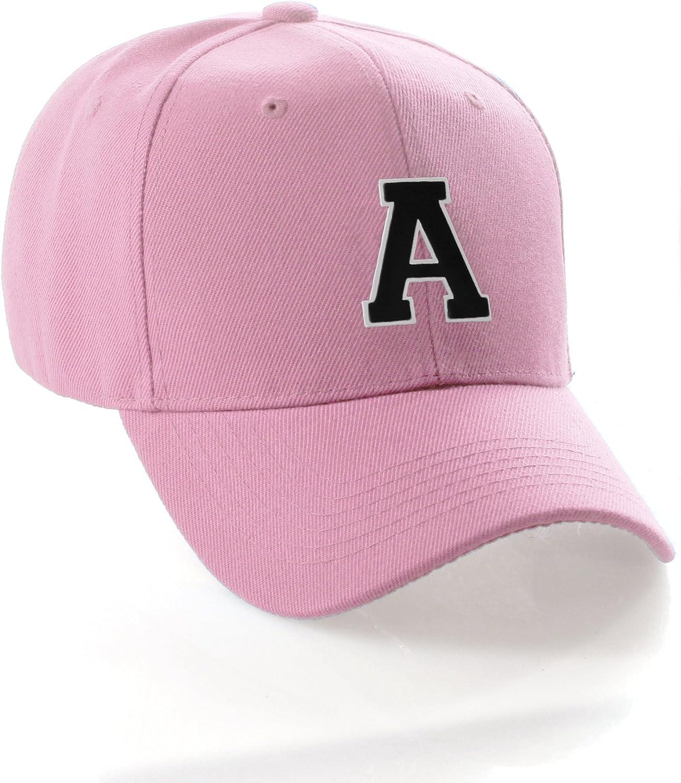 Regular dealer Classic Baseball Hat Custom A Super popular specialty store to Cap Team Z Pink Letter Initial