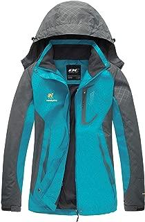Women Windproof Hooded Waterproof Rain Jacket Lightweight...