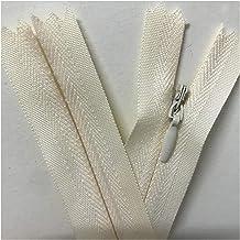 Jinggege 10 stks/zak Onzichtbare ritssluiting DIY Nylon Coil Rits for naaiende kledingaccessoire (Color : Beige, Size : 20cm)