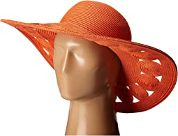 UBL6481 Ultrabraid Sun Brim Hat with Open Weave Circular Details