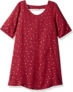 Crazy 8 Girls' Big Short Sleeve Casual Woven Dress