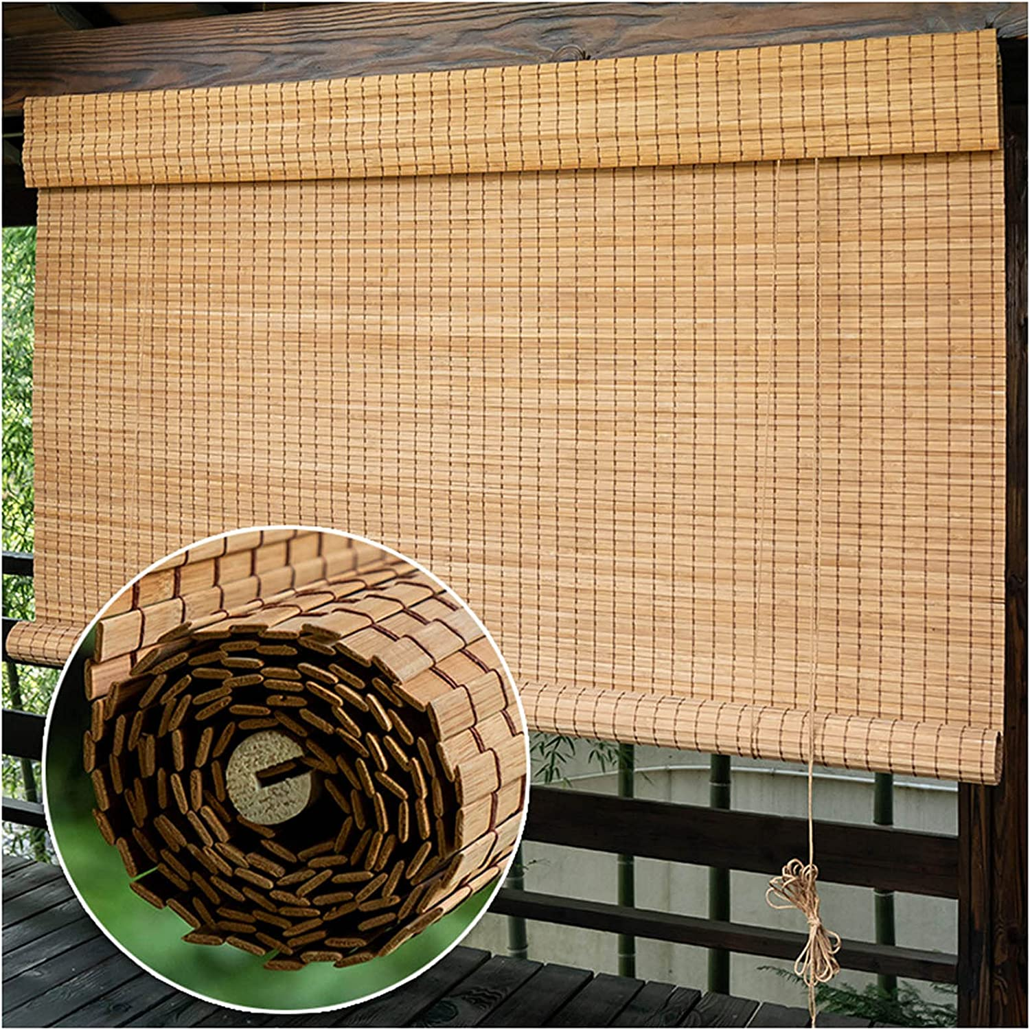 Outdoor Bamboo Shades for Patio Window Blin Natural Sale Porch Limited time trial price