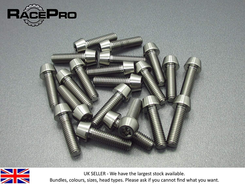 Natural RacePro 2x Titanium  Tapered Socket Bolt Torx M4 x 10mm x 0.7mm