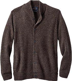 Men's Shetland Bomber Style Cardigan Sweater
