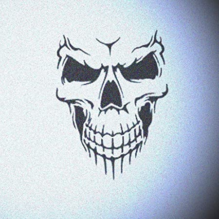 Evil skull airbrush art craft mylar stencil
