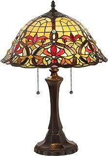 Chloe Lighting CH33389VR16-TL2 Bertram Tiffany-Style Victorian 2 Light Table Lamp 18-Inch Shade