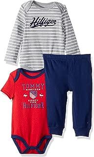 Tommy Hilfiger Baby Boys 3 Pieces Bodysuit Pant Set