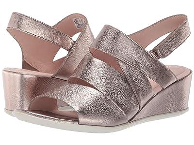 ECCO Shape 35 Wedge Sandal (Stone Metallic Cow Leather) Women