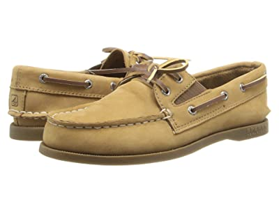 Sperry Kids Authentic Original Slip On (Little Kid/Big Kid) (Sahara Leather) Kid