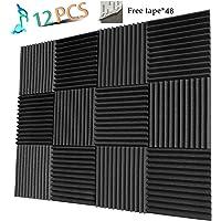 12-Pack YWSHUF Studio Foam Soundproof Acoustic Panel (Charcoal)