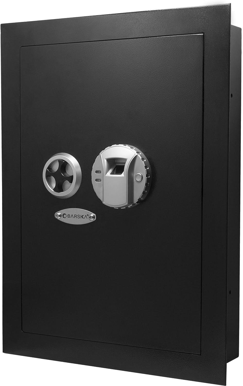 Barska Biometric Max Max 67% OFF 84% OFF Fingerprint Security Wall 0.52 Cubic Safe Ft