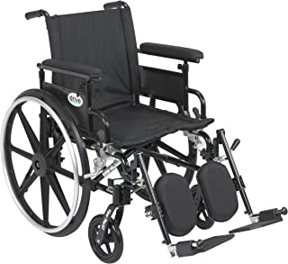 Viper Plus GT Wheelchair with Flip Back Removable Adjustable Full Arms, Elevating Leg Rests, 20
