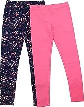 VIGOSS Girls' 2 Pack Soft Cotton Leggings