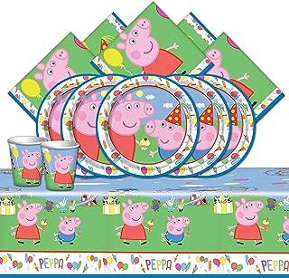 Kit completo de suministros para fiestas de carnaval de Peppa Pig para 16