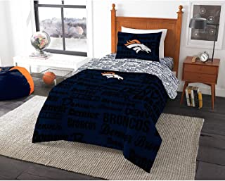 Denver Broncos Official NFL 14.5 inch x 7.5 inch xSweatshirt Blanket Script Design by Northwest Company 684102