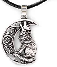 HAQUIL Wolf Jewelry Moon Howling Wolf Necklace for Men for Women