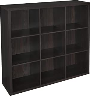 ClosetMaid 4110 Decorative 9-Cube Storage Organizer, Black Walnut