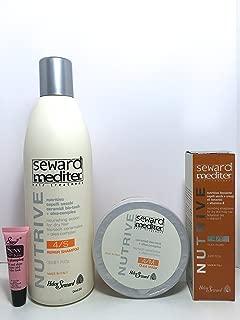 Helen Seward Nutrive 4/S Repair Shampoo 33.81 Oz, 4/M Olea Mask 16.9 Oz and 4/F Alea Fluid 4.22 Oz