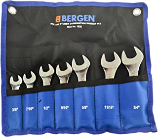 Stubby Spanners Wrench Set SAE Imperial 7pc 3/8