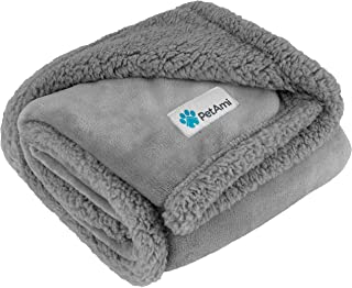 PetAmi Waterproof Dog Blanket for Medium Dogs, Puppies, Small Cats   Soft Sherpa Fleece Pet Blanket Throw for Sofa, Couch...