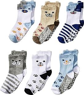 Non-Skid Dog Socks 6-Pack (Infant/Toddler)