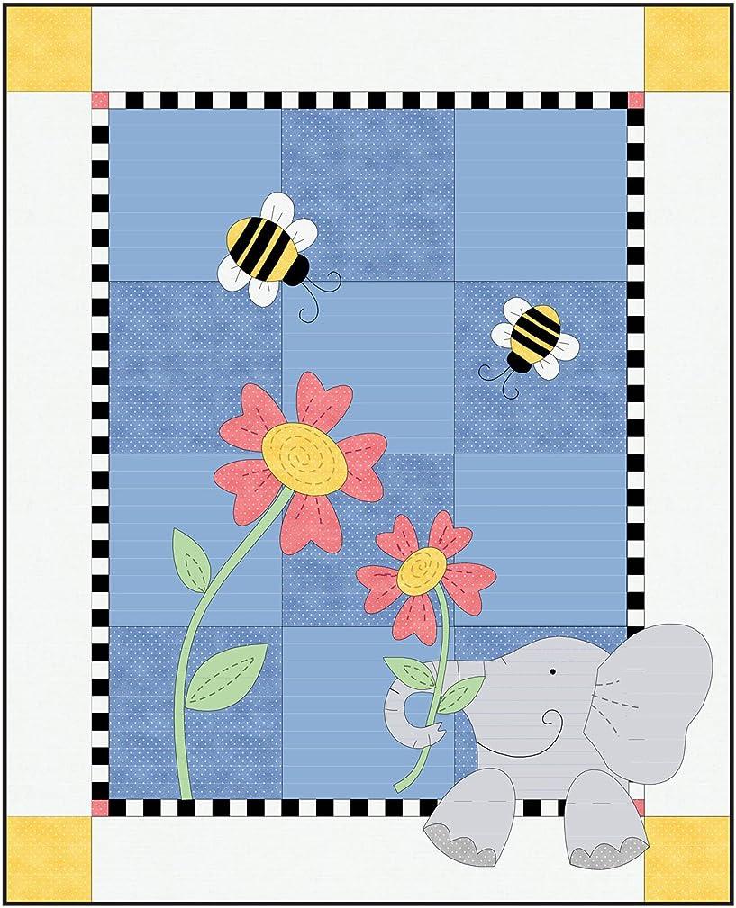 Beautiful Basics Eloise Elephant Quilt Kit Maywood Studio