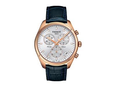 Tissot PR 100 Chronograph T1014173603100 (Silver/Blue) Watches