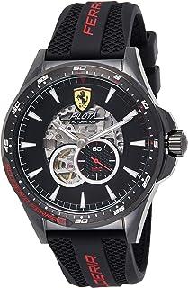 Scuderia Ferrari Hommes Squelette Automatique Montres bracelet avec bracelet en Silicone - 830600