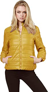 Women's Lightweight Solid Basic Outdoor Sports Quilted Puffer Jacket