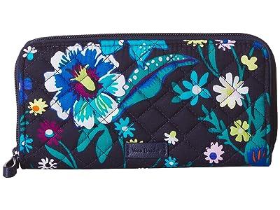 Vera Bradley Iconic RFID Georgia Wallet (Moonlight Garden) Wallet Handbags