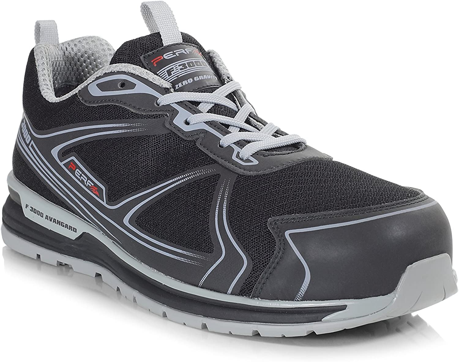 Perf Gravity Five S1P SRC Ultra Lightweight Safety Trainer, Black Grey, 11 UK (46 EU)