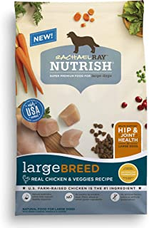 Rachael Ray Nutrish Large Breed Premium Natural Dry Dog Food, Real Chicken & Veggies Recipe, 40 Pounds