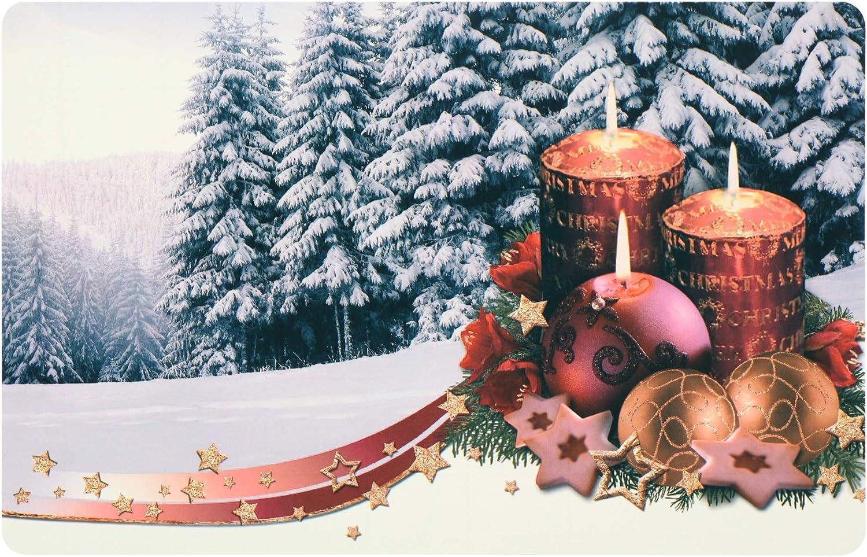 manteles individuales con diferentes motivos manteles COM-FOUR/® mantel individual 4x para Navidad mantel individual para la cocina