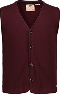 JP 1880 Men's Big & Tall Straight Fit Knitted Vest Mulberry Large 714273 84-L