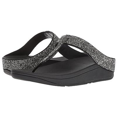 FitFlop Fino Quartz Toe Thong Sandals (Black) Women