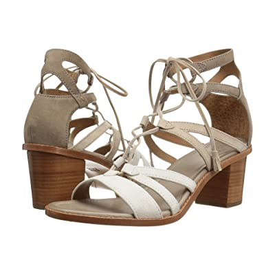 Frye Brielle Gladiator (White Multi) High Heels