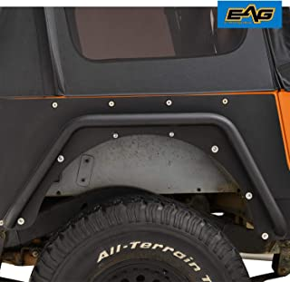 EAG Rear Fender Flares Armor Rocker Guards with Hardware Kit Fit for 87-95 Jeep Wrangler YJ