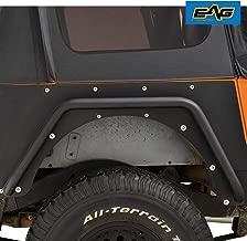 EAG Rear Fender Flares Armor Rocker Guards with Hardware Kit Fit for 87-95 Jeep Wrangler YJ
