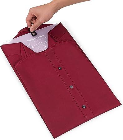 Bolsa Porta Camisas   Organizador De Camisas Resistente para Viaje con Asa Y Bolsillo + Plegador   Guarda La Ropa Sin Arrugas En La Maleta   Ten Tu ...