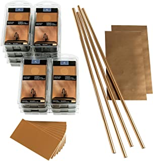 Aspect Peel and Stick Backsplash 3in x 6in Brushed Copper Long Grain Metal Tile 15 Sq Ft Kit for Kitchen and Bathrooms